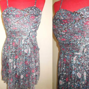 Dresses & Skirts - Dress NEW Floral Pleated Chiffon Spaghetti Strap